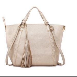 New! Classic Tote Bag in Gold Champagne